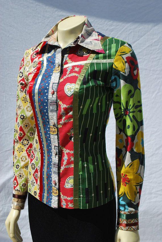 Vintage 70s Bill Whitten WORKROOM 27 patchwork rock by thekaliman, $275.00