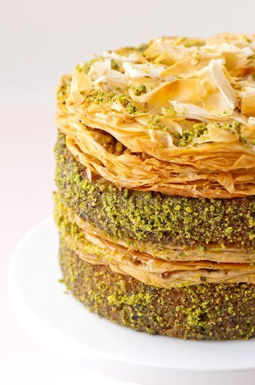 #Pistachio #Baklava #Cake #Turkish #desserts
