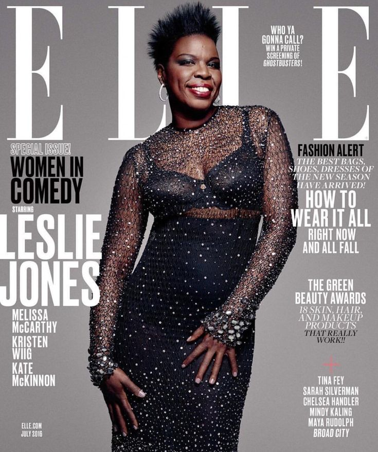 Ms. Leslie Jones: A great representation of true African American beauty. She's fierce, funny, w/ brains and beauty. Thank you Elle Magazine. Elle July 2016