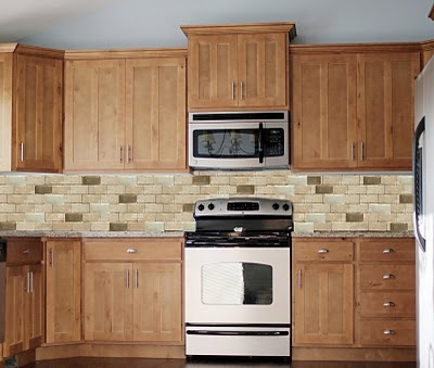 Cream Kitchen Cabinets And Backsplash
