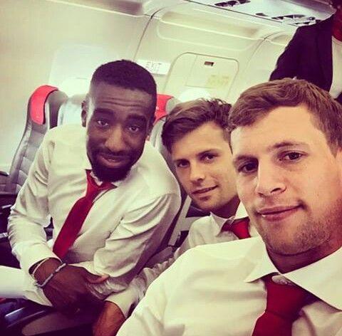 Swiss Football Team ⚽ Johan Djourou, Valentin Stocker and Fabian Frei ♡