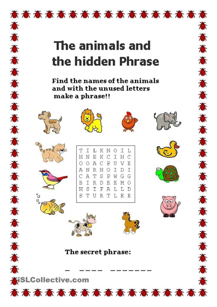 Animals - Hidden Phrase