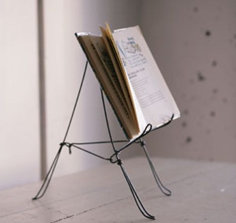 Wire Plate Holder and Cookbook Stand