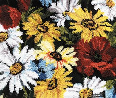 Daisies and Poppies Latch Hook Rug  Kit Latch by ToppyToppyKnits, $52.00