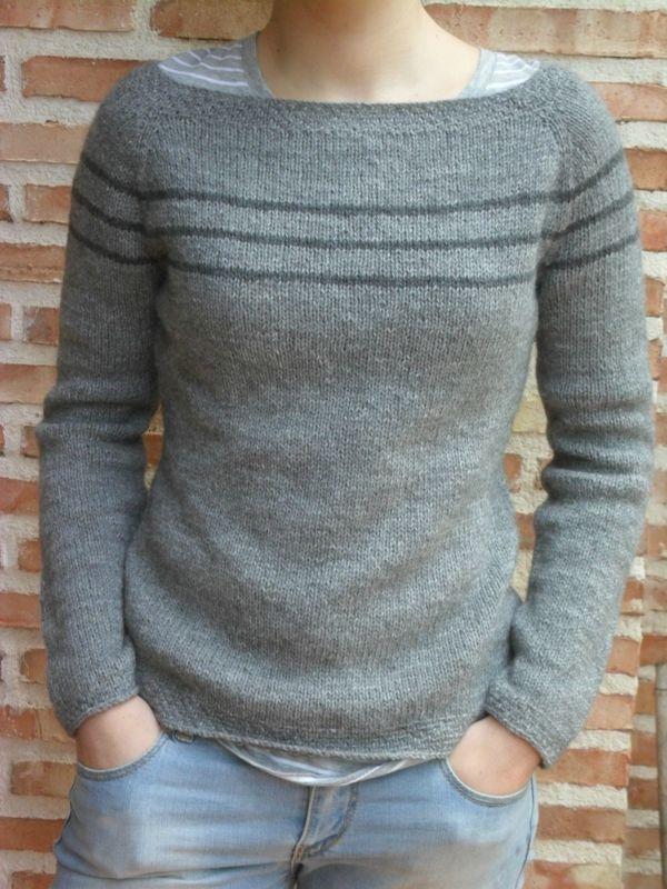 Un joli pull tricoté/ Un bonito jersey de tricot