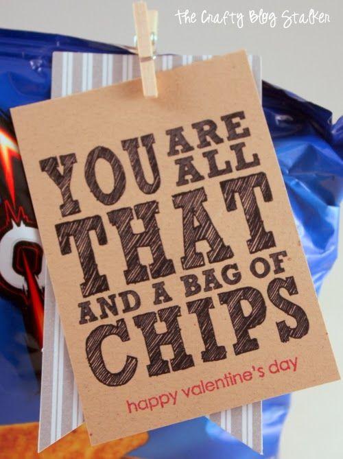 St. Valentine's Day, Gift, Paper Craft, Tag, Chips, DIY, Handmade, Valentine