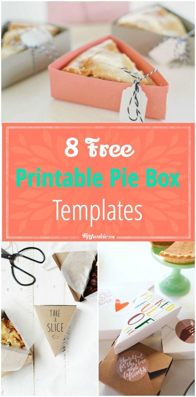 8 Free Printable Pie Box Templates