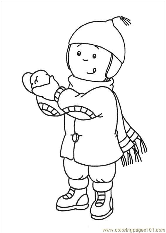 caillou online coloring pages - photo#16
