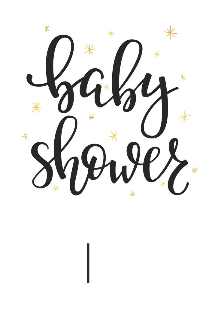 Hand Lettering - Free Baby Shower Invitation Template | Greetings Island