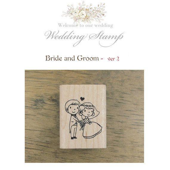 cute wedding stamp