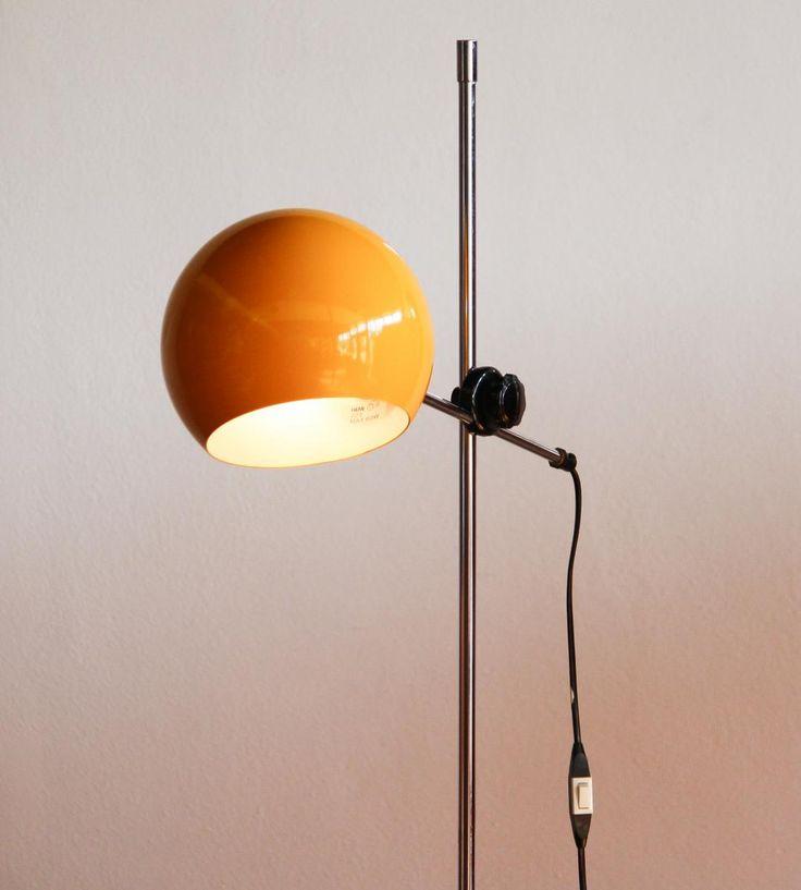 Yellow Floor Lamp by Hemi Klot, 1970s 3