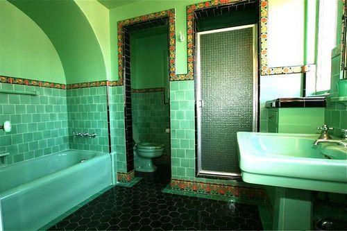 Vintage Green Bathroom Ideas Pinterest