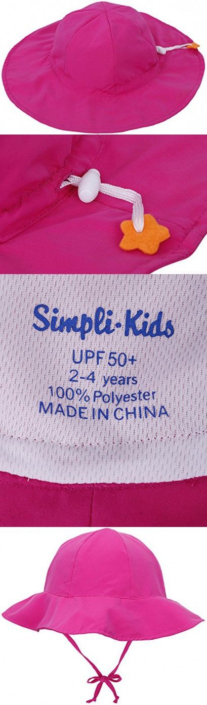 SimpliKids UPF 50+ UV Ray Sun Protection Wide Brim Baby Sun Hat,Rose Pink,0-12 Months