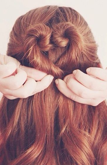 We love this sweet tutorial on how to shape your mane into the ultimate Valentine