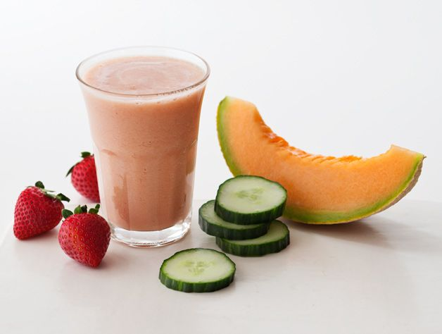 Strawberry Melon Energy Boost. You will be feeling cool as a cucumber and sweet as a strawberry with this beverage!