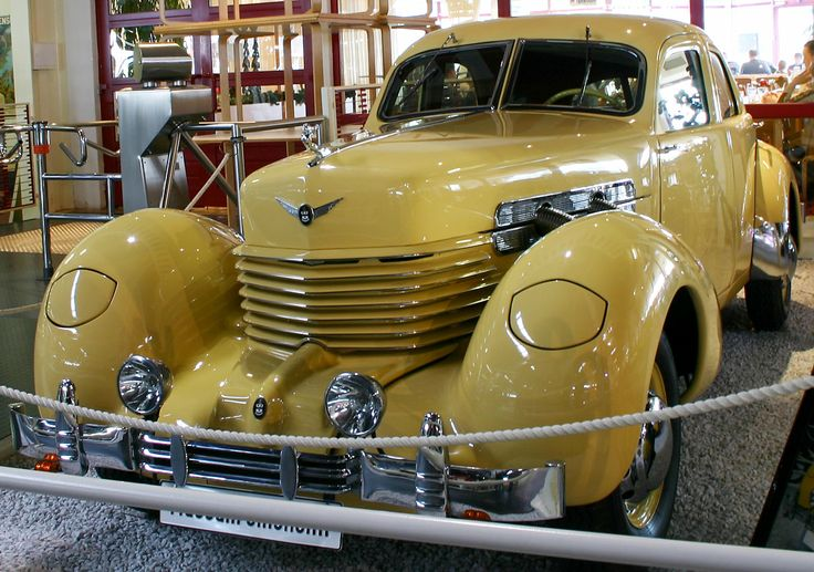 Supercharged Cord 812 art deco car