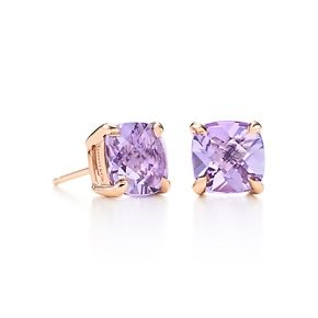 Tiffany Sparklers lavender amethyst earrings in 18k rose gold. #TiffanyPinterest