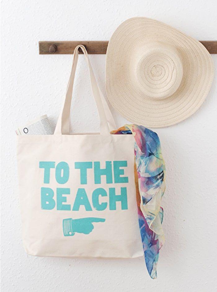 To The Beach Canvas Bag Beach Bags Alphabet Bags Www Alphabetbags Com Canvas Beach Bag Bags Canvas Bag