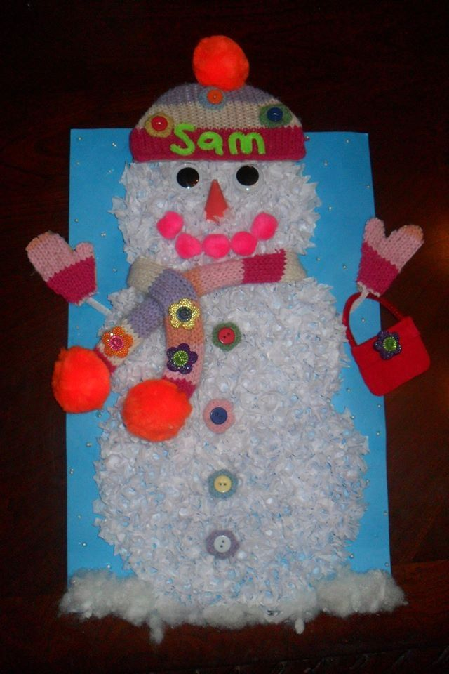 snowman project for school