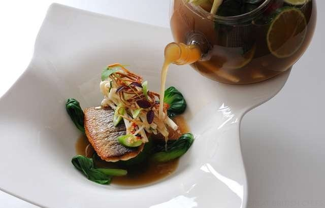Bream with galangal broth - Alan Murchison