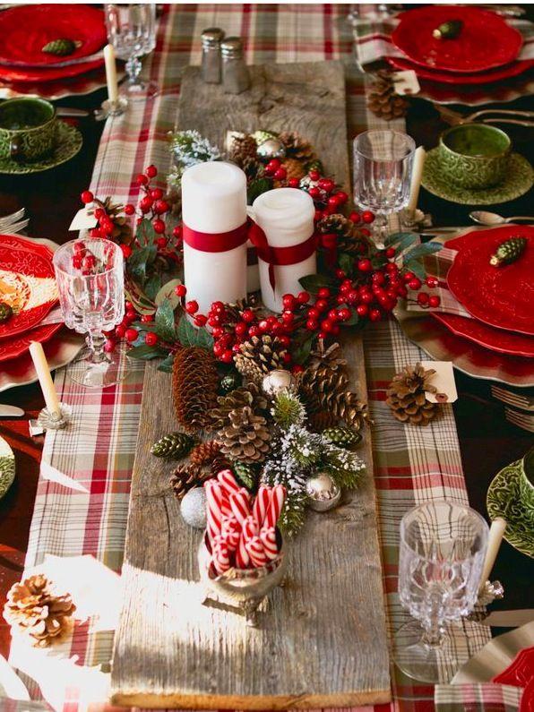 La tavola....natalizio rustico...