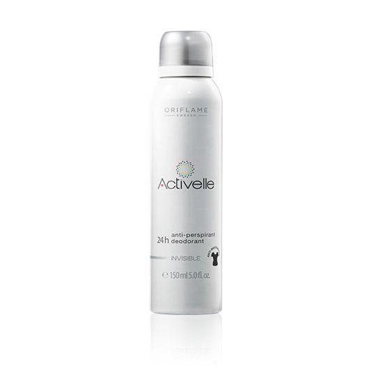 Antiperspirant deodorant ve spreji 24h Activelle Invisible