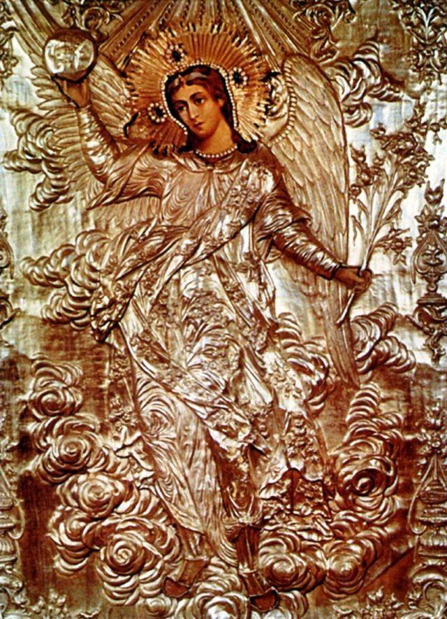 Архангел Гавриил. Икона из иконостаса храма Архангела Гавриила в Москве.