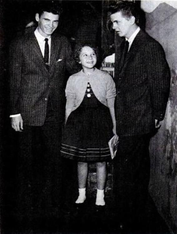 Brenda Lee with the Everly Brothers, 1957.(that little bitty girl with that huge powerful voice)