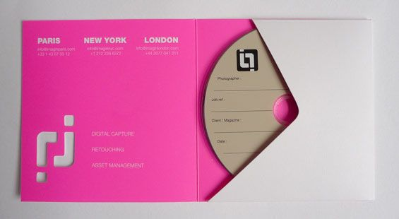 CD sleeve, light effect Imagin Productions - Young Graphic Designer