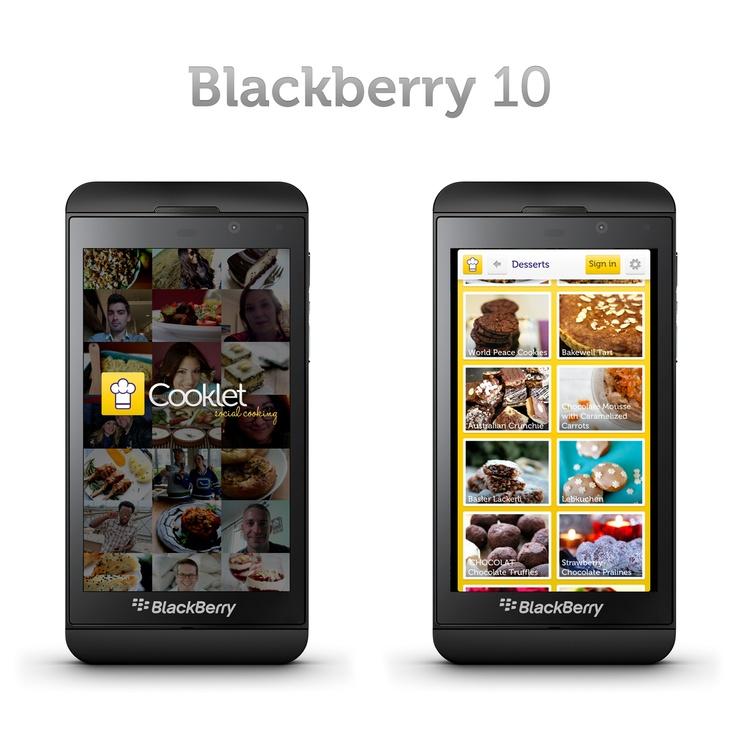 #Cooklet App on #BlackBerry 10