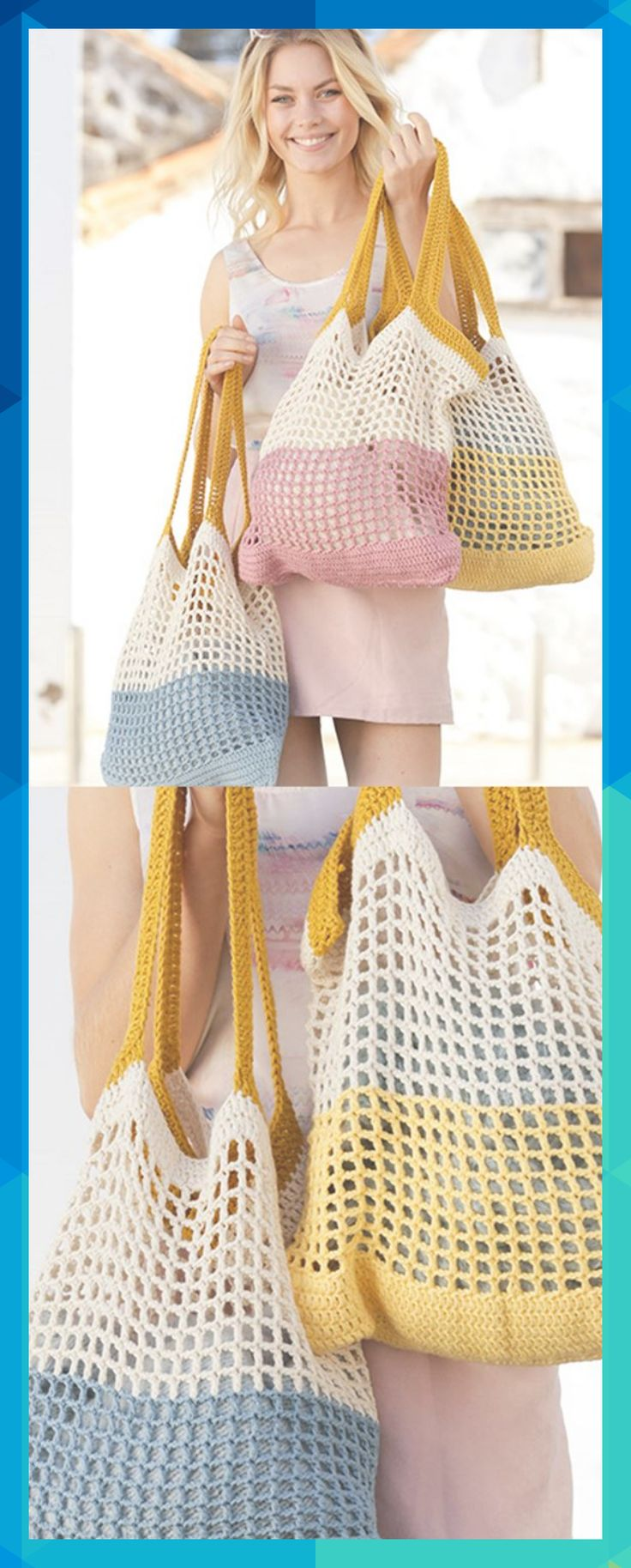 Free Crochet Pattern for a Beach Bag ⋆ Crochet Kingdom #pfeffermable973