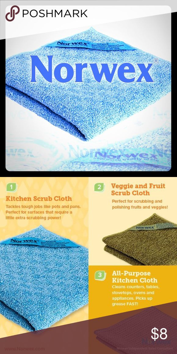 Norwex Blue Kitchen Scrub Cloth For tough jobs without scratching your precious items! norwex Other