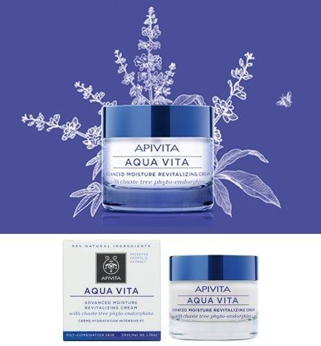 APIVITA Aqua Vita Advanced Moisture Revitalizing Cream For Oily | Combination Skin #APIVITA
