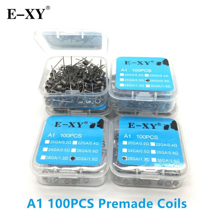 Big sale US $15.30  E-XY 100pcs/Pack A1 Coil Wire Coiling Prebuilt Coil Resistance Electronic Cigarette Heating Coil Wire for DIY RDA RTA Atomizer  #pcsPack #Coil #Wire #Coiling #Prebuilt #Resistance #Electronic #Cigarette #Heating #Atomizer  #OnlineShop