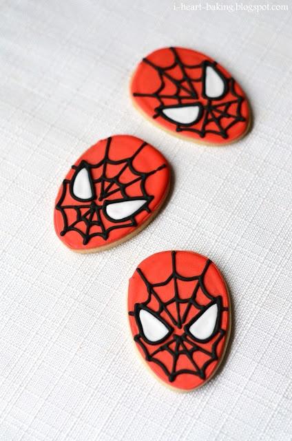 Spider Man Cookies. So cute!