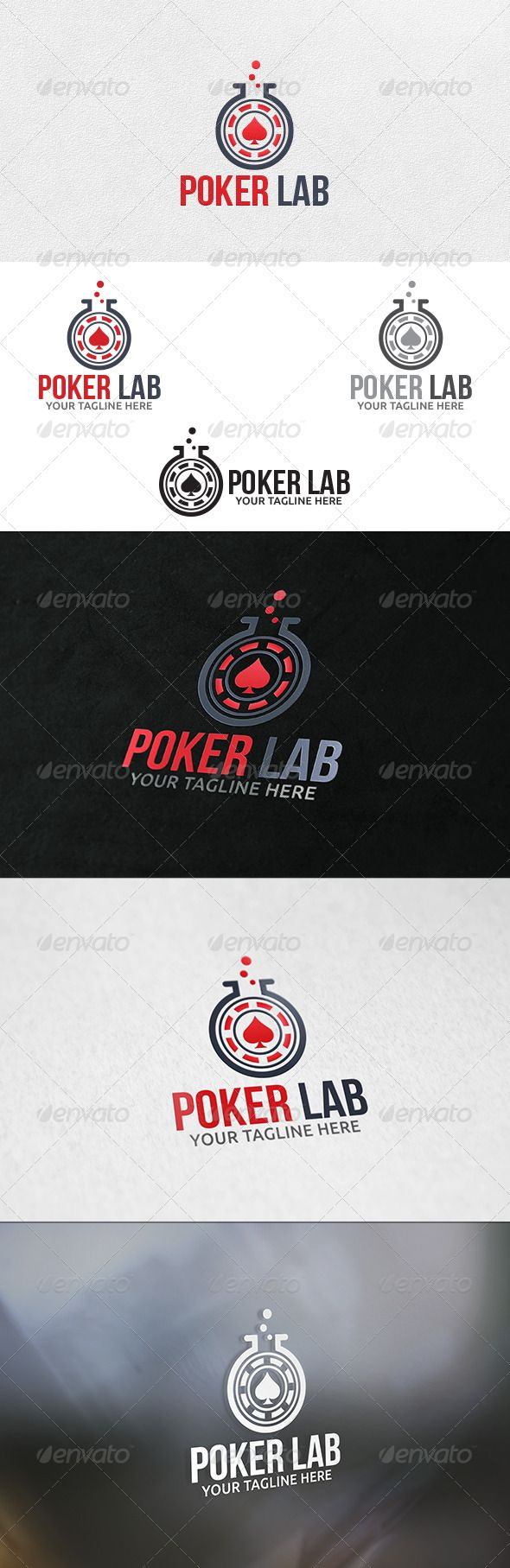 Poker Lab - Logo Template  #GraphicRiver         100% Vector  File Format : EPS   Color Mode : CMYK   Font used : Bebas Neue  Download Link :  .fontsquirrel /fonts/bebas-neue                      Created: 11 December 13                    Graphics Files Included:   Vector EPS                   Layered:   No                   Minimum Adobe CS Version:   CS                   Resolution:   Resizable             Tags      ace #black jack