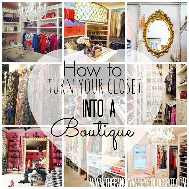 how to turn your closet into a boutique! organize jewelry accessories, glam closet. chandelier, rug, mirrors, stencils, paint, wallpaper www.thefancyyanceys.blogspot.com vintage romance