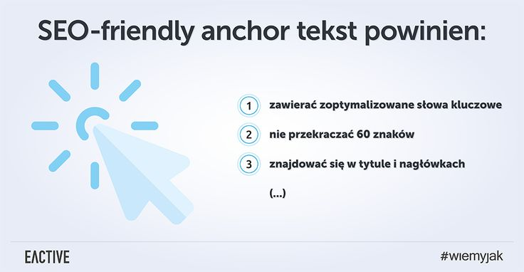 Jak powinien wyglądać anchor tekst przyjazny pozycjonowaniu?