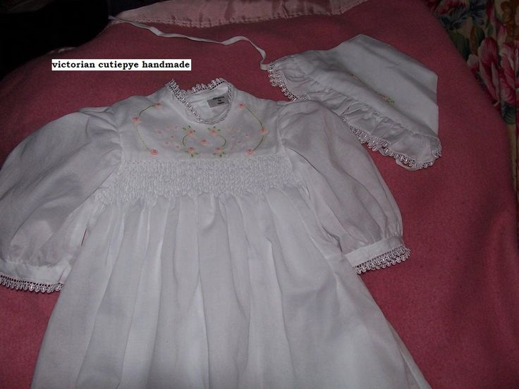 victorian smocked gown muslin 0427820744 cutiepye creation