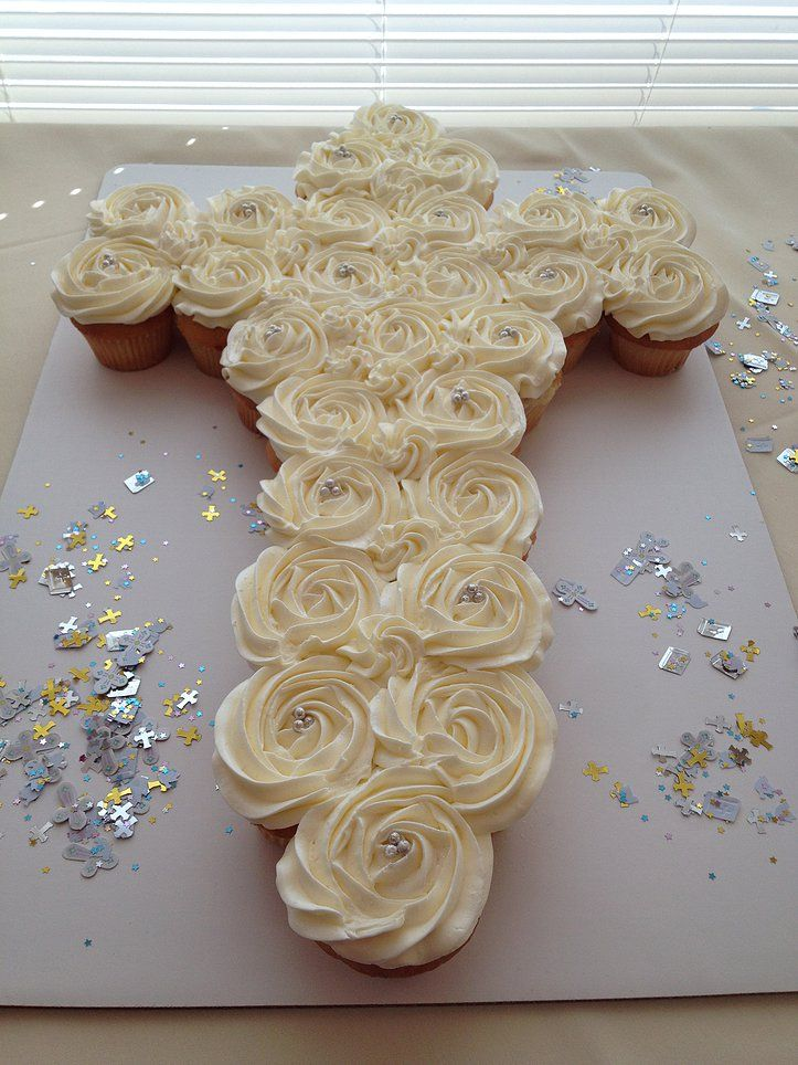 christening cupcake cross - Google Search