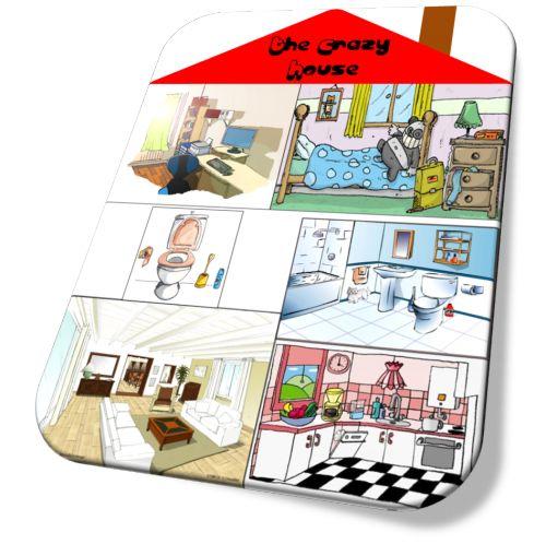 The Crazy House : jeu pour travailler le voc de la maison et des animaux