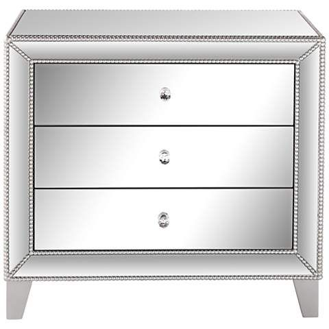 Liza 3-Drawer Mirrored Accent Table - #6V395 | LampsPlus.com