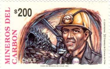 Coal workers stamp
