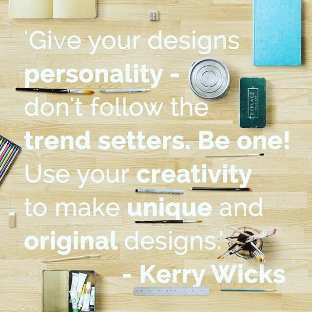 Be original! The very best #TuesdayTip by @kerpolska for all you creative folk to remember! #qotd #illustration #design #sketching
