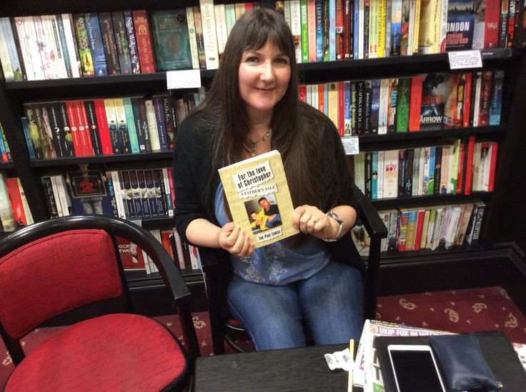 A friend at my book launch at water stones bury