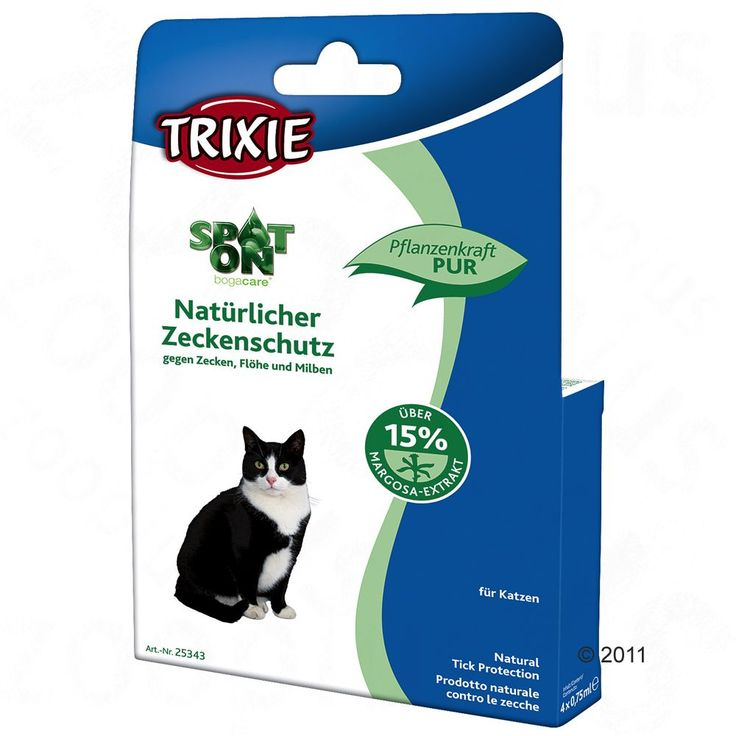 Animalerie  Protection anti-tiques Spot-On pour chat  4 pipettes