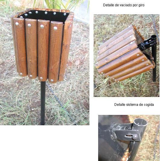 31 best papeleras de madera para exterior para mobiliario urbano