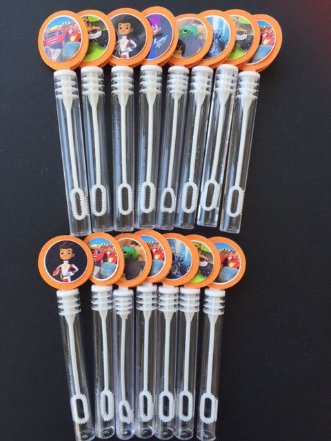 Blaze and The Monster Machines party favor set of 15 bubble wands! www.RockinPartyTreats.Etsy.com