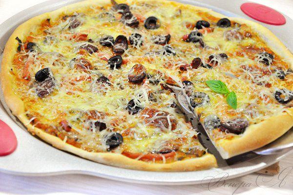 Пицца «Ассорти» + соус для пиццы рецепт с фотографиями