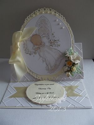 2 Christening cards . by: junescraftybits
